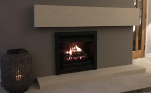 Contemporary Fireplace Natural Bath Stone. Head and Hearth stones